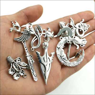 Wholesale Antique Silver Charms Pendants Jewelry Findings Carfts DIY 100+ kinds 12