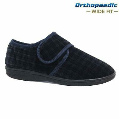 Mens Diabetic Orthopaedic Easy Close Wide Fitting Strap Slippers Shoes Size 7-14 4