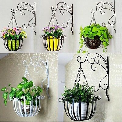 1 Of 9free Shipping Hanging Planter Wall Mounted Plant Flower Pot Basket Holder Display Home Decor