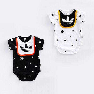 2019 New Baby Boys Girls Short Sleeve Summer Cotton Babygrows Bodysuit Clothes 2
