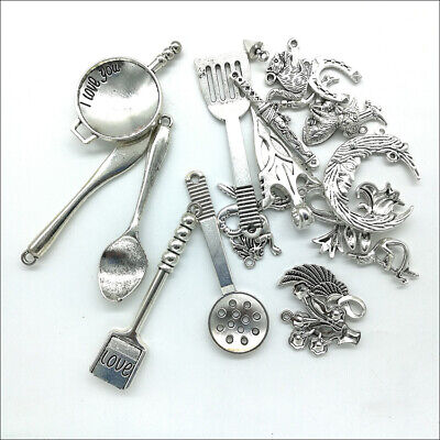 Wholesale Antique Silver Charms Pendants Jewelry Findings Carfts DIY 100+ kinds 11