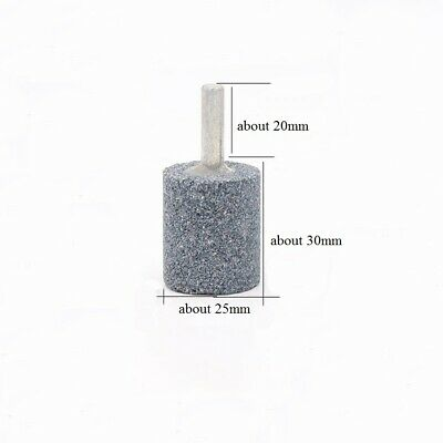 5pcs 25mm Rotary Grinding Mounted Stone Abrasive Wheel 6mm Shank For Drill Metal 2