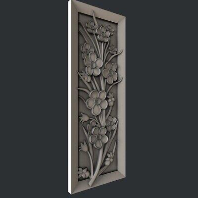 3d STL models for CNC, Artcam, Aspire,flower 3