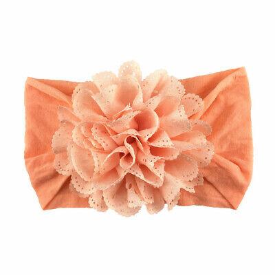 Newborn Baby Girls Lace Flower Headband SoftBow Hairband Baby Headdress Headwear 6