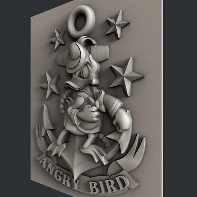 3d STL models for CNC, Artcam, Aspire, Angry Bird 3