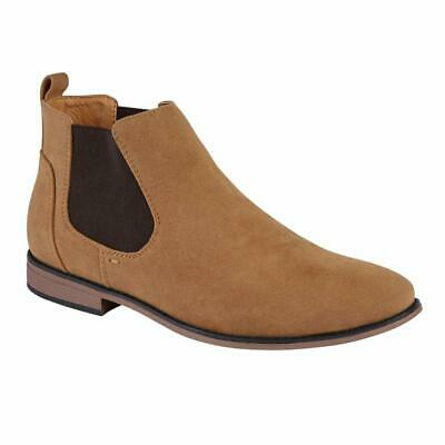Mens Desert Boots Suede Casual Chelsea Walking Dealer Ankle Smart Fashion Shoes 4