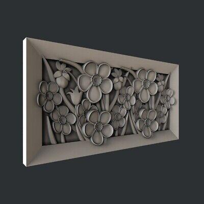 3d STL models for CNC, Artcam, Aspire,flower 7