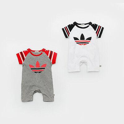 2019 New Baby Boys Girls Short Sleeve Summer Cotton Babygrows Bodysuit Clothes 4