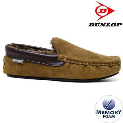 Mens Moccasins Slippers Loafers Memory Foam Sheepskin Fur Lined Winter Shoes Siz