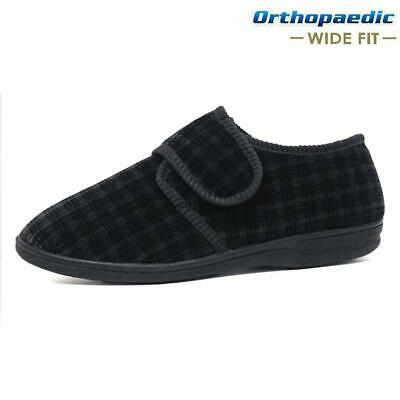 Mens Diabetic Orthopaedic Easy Close Wide Fitting Strap Slippers Shoes Size 7-14 5
