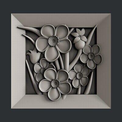 3d STL models for CNC, Artcam, Aspire,flower 8