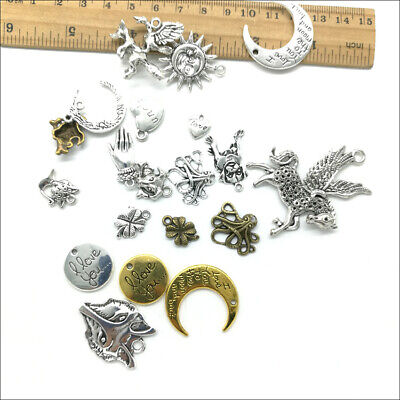 Wholesale Antique Silver Charms Pendants Jewelry Findings Carfts DIY 100+ kinds 7
