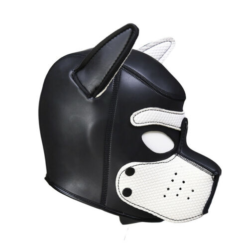 Sexy Cosplay Role Puppy Dog Mask Play Women Men Matching Roleplay Head Props 7