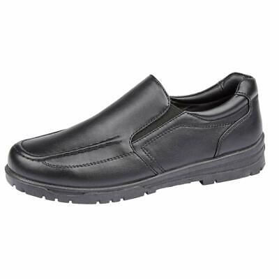 Boys Faux Leather School Shoes Kids Smart Wedding Formal Back To School Shoes 3