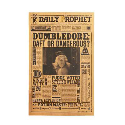 Harry Potter Poster Wall Kraft Paper Movie Daily Prophet Decoration 42X30cm 5
