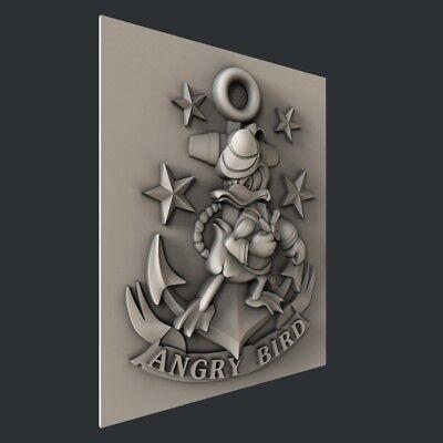 3d STL models for CNC, Artcam, Aspire, Angry Bird 2