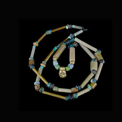 A Holyland glass and gold bead necklace. circa 2nd-4th century A.D. x8661 2