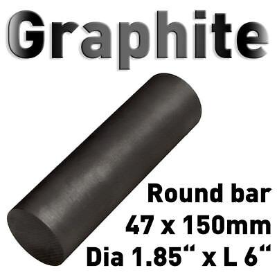 "Graphit Rundmaterial 47 x 150mm Zylinder Elektrode Stab Kohlenstoff 1.85""x6"" 50 3"