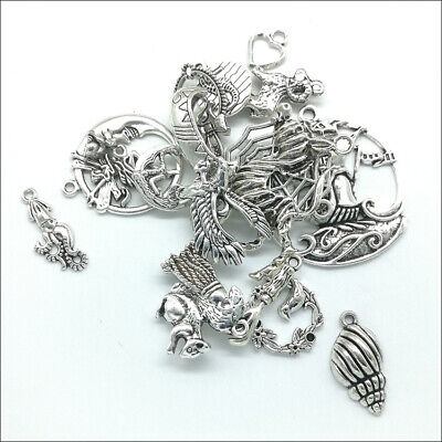 Wholesale Antique Silver Charms Pendants Jewelry Findings Carfts DIY 100+ kinds 9