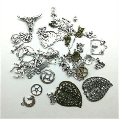 Wholesale Antique Silver Charms Pendants Jewelry Findings Carfts DIY 100+ kinds 2
