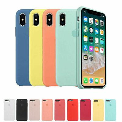 Genuine Original Silicone Case Cover Fit Apple iPhone X XR XS Max 7 8 6 6S+Plus 3
