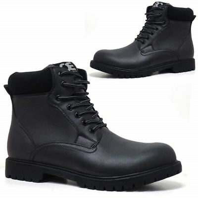 Mens Hiking Boots Walking Ankle Combat Military Army Biker Riding Fashion Shoes 4