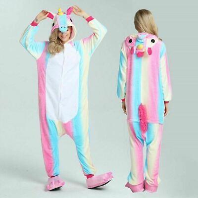 Adult/Child Unicorn Unisex Kigurumi Animal Cosplay Costume 1Onesie Pyjama UK 4