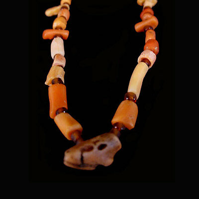 Roman red coral and glass bead necklace. x6482 3