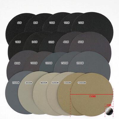 6'' 150mm Hook & Loop Sanding Disc Wet or Dry Sandpaper Sander Pad 60-10000 Grit 2
