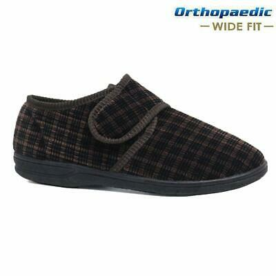 Mens Diabetic Orthopaedic Easy Close Wide Fitting Strap Slippers Shoes Size 7-14 6