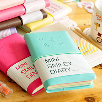 Portable Notebook Pocket Diary Memo Notepad Journal Planner Note Pad PU Leather