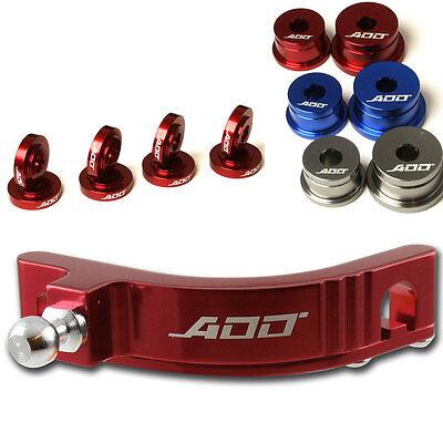ADD W1 Short Shifter + Base Bushings + Cable Bushings for Honda SI EP3 RED 2
