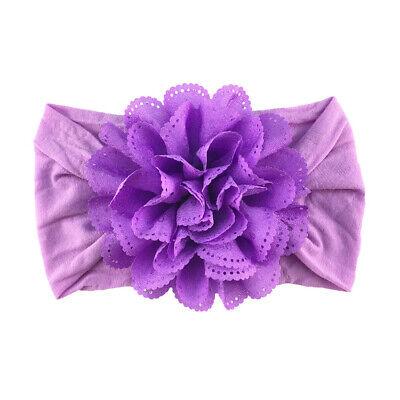 Newborn Baby Girls Lace Flower Headband SoftBow Hairband Baby Headdress Headwear 10