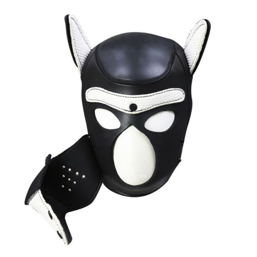 Sexy Cosplay Role Puppy Dog Mask Play Women Men Matching Roleplay Head Props 6