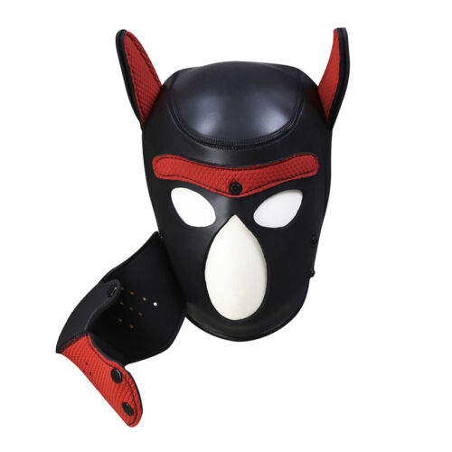 Sexy Cosplay Role Puppy Dog Mask Play Women Men Matching Roleplay Head Props 10