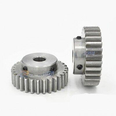 45# Steel Spur Pinion Gear 1.5Mod 20T Outer Dia 33mm Bore 12mm x1Pcs
