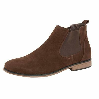 Mens Desert Boots Suede Casual Chelsea Walking Dealer Ankle Smart Fashion Shoes 11
