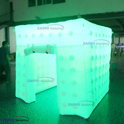 Inflatable LED Light Photo Booth Tent Wedding Birthday Party With Air Blower 2