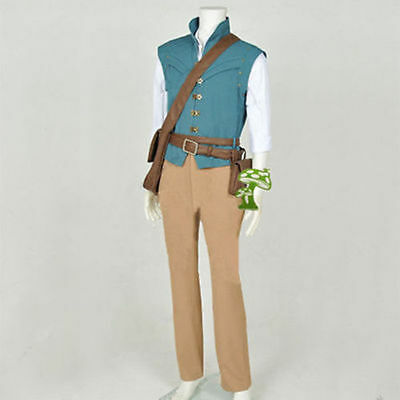 Tangled Rapunzel Flynn Rider Cosplay Costume Daily Hunting Full Set