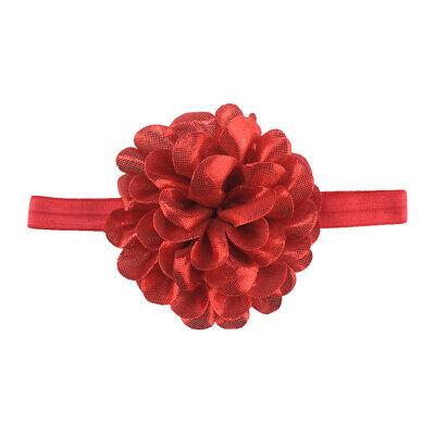 Baby Girls Glitter Flower Bow Headband Ribbon Elastic Hairband Newborn Headdress 5