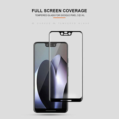3D Full Coverage Tempered Glass Screen Protector For Google Pixel 2 3 XL 2XL 3XL 2