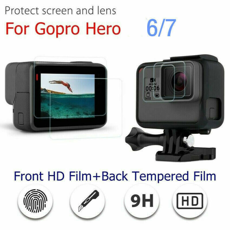 For Gopro Hero 7 Black Camera Accessories Lens&Screen Protector Protective Film 2