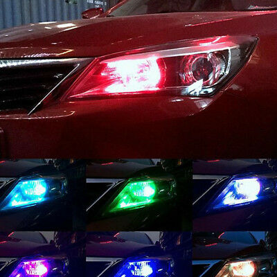 2pcs T10 W5W 5050 RGB Remote Control Car LED Light 6SMD Colorful Side Light Bulb 9