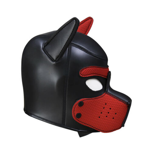 Sexy Cosplay Role Puppy Dog Mask Play Women Men Matching Roleplay Head Props 11