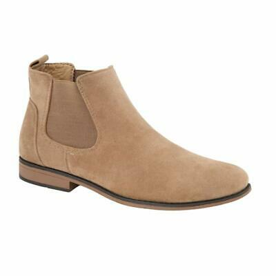 Mens Desert Boots Suede Casual Chelsea Walking Dealer Ankle Smart Fashion Shoes 6