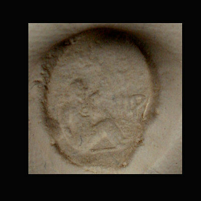 A Phoenician clay bulla the image depicting a lady. e8097 2