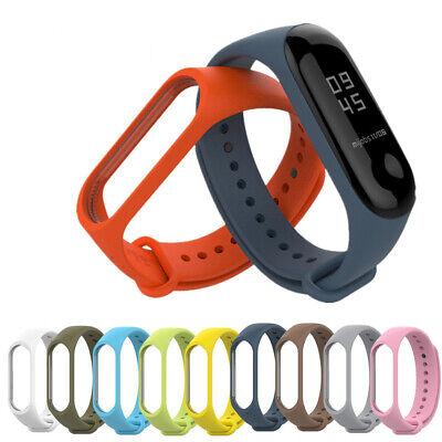 For XIAOMI MI Band 4 /MI Band 3 Silicon Wrist Strap WristBand Bracelet FR RR 6