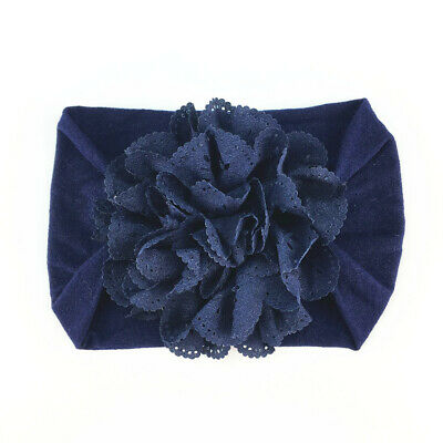 Newborn Baby Girls Lace Flower Headband SoftBow Hairband Baby Headdress Headwear 3