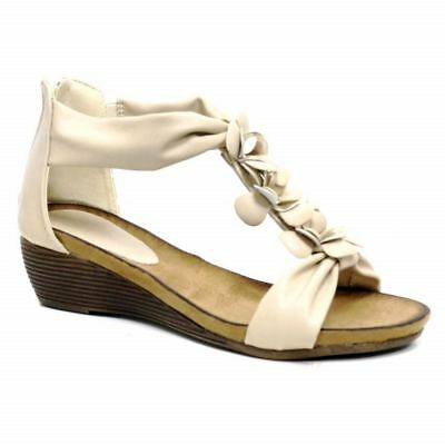 Ladies Wedge Sandals Womens Heels New Fancy Summer Dress Party Beach Shoes Size 10