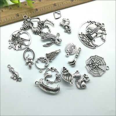 Wholesale Antique Silver Charms Pendants Jewelry Findings Carfts DIY 100+ kinds 8